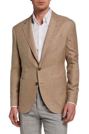 Brunello Cucinelli Men's Hopsack Two-Button Jacket