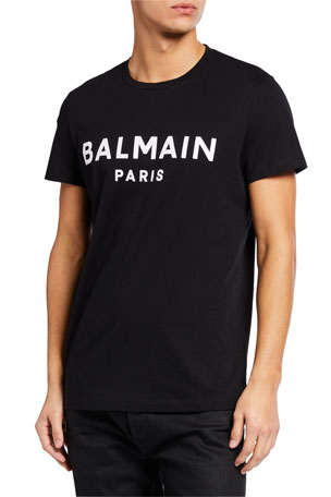 Balmain Men's Logo Typographic T-Shirt