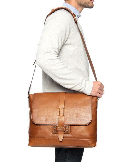 Frye Men's Bowery Leather Messenger Bag