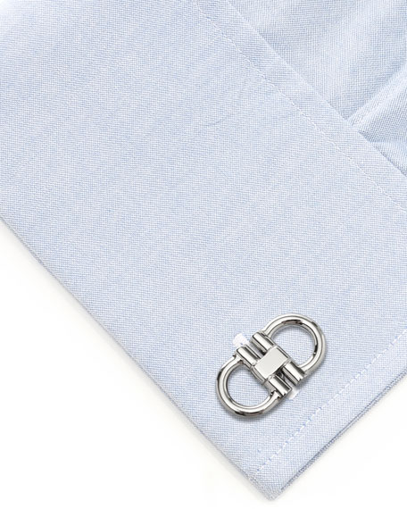 Cufflinks Inc. Men's Stainless Steel Horsebit Cufflinks