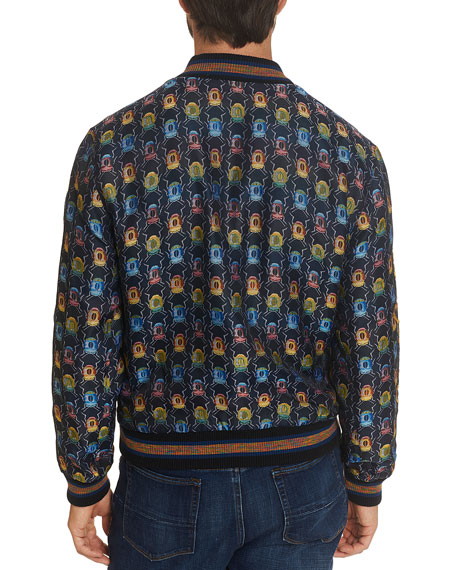 Robert Graham Men's Limited Edition Hybrid Graphic-Pattern Bomber Jacket