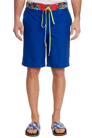 Robert Graham Men's Rourke Solid Swim Trunks