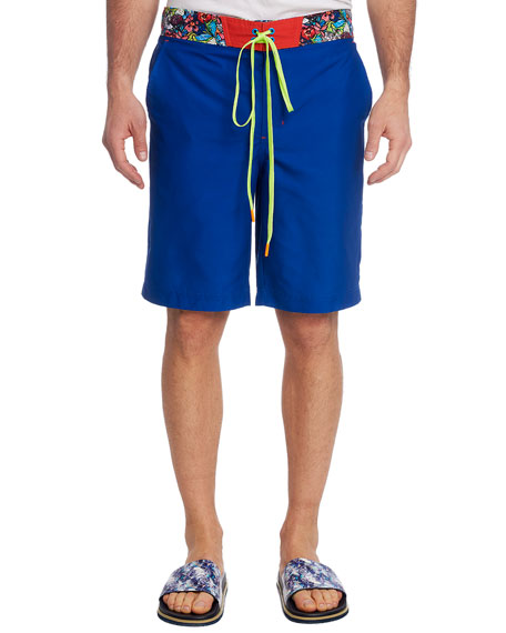 Robert Graham Pants Men's Rourke Solid Swim Trunks