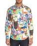 Robert Graham Men's Borderline Graphic Contrast-Reverse Sport Shirt