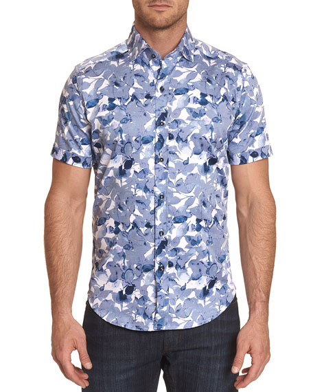 Robert Graham Men's Teasdale Stretch-Cotton Sport Shirt