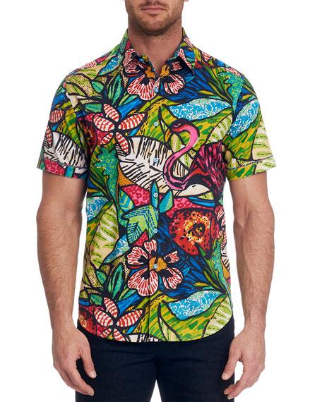 Robert Graham Men's Graphic Short-Sleeve Sport Shirt