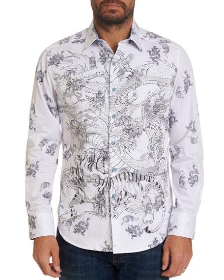 Robert Graham Men's Dragon Heart Graphic Sport Shirt