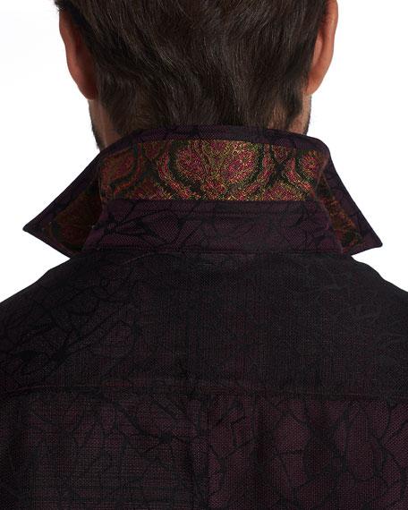 Robert Graham Men's Tonal Graphic Silk Sport Shirt