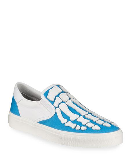Amiri Men's Canvas & Leather Skeleton-Toe Sneakers