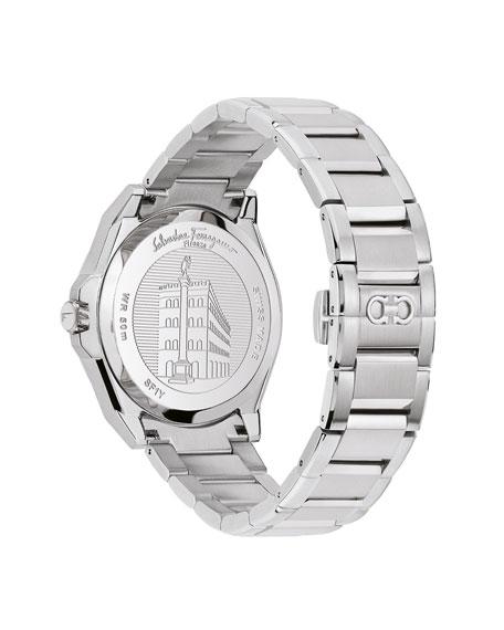 Salvatore Ferragamo Men's 43mm Sub-Second Stainless Steel Watch