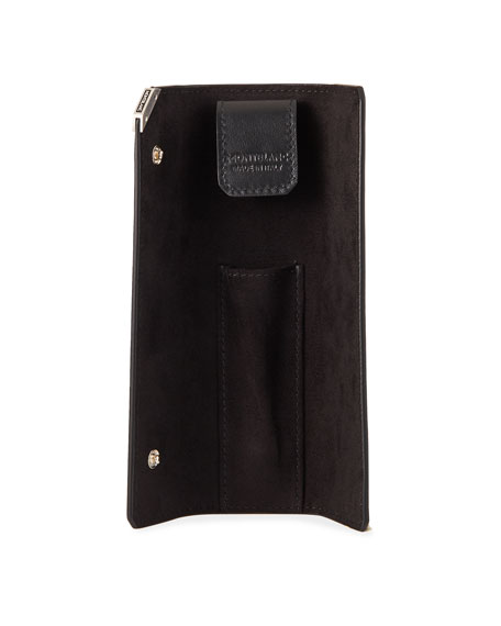 Image 2 of 2: Montblanc Men's Meisterstuck Urban 1-Pen Leather Pouch