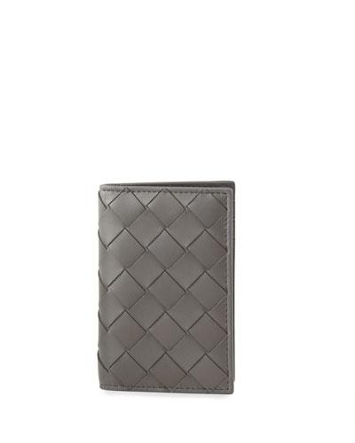 Men's Portacard Woven Leather Card Case