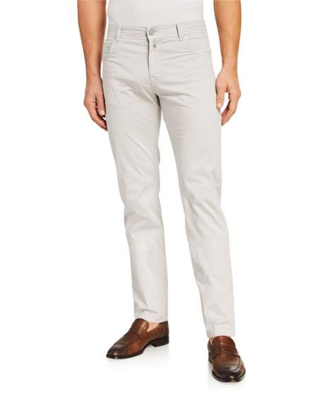 Kiton Men's Solid 5-Pocket Stretch Pants, Sand