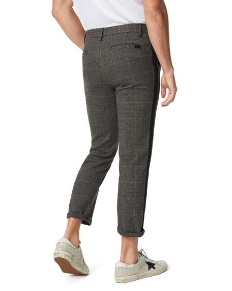 Joe's Jeans Men's Cropped Plaid Side-Stripe Trousers