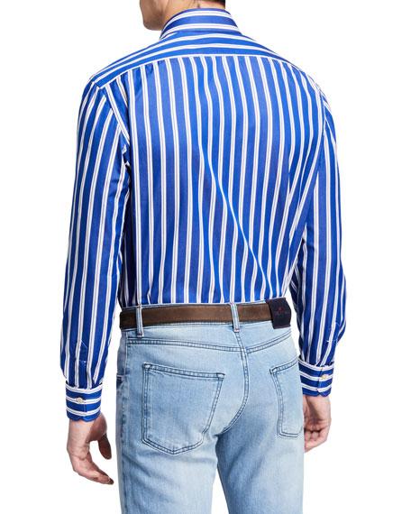 Kiton Men's Double Stripe Dress Shirt