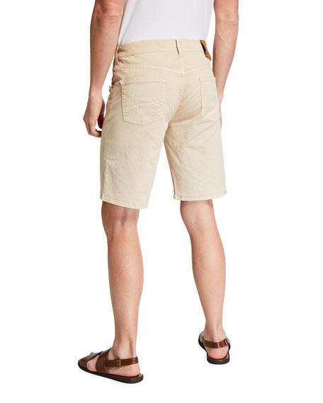 Hand Picked Men's Poppi Stretch Cotton Shorts, Beige