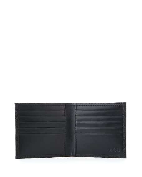 Image 2 of 2: Abas Men's Slim Lizard Bifold Wallet