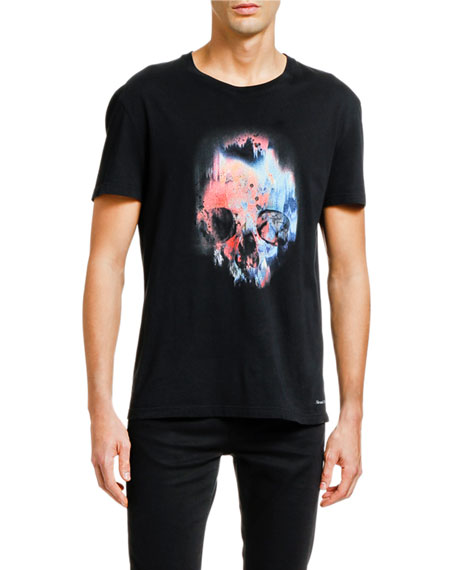Alexander McQueen Men's Multicolor Skull Graphic T-Shirt