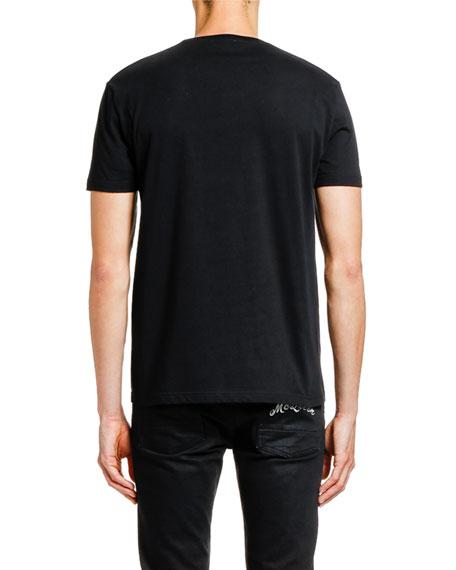 Alexander McQueen Men's Floral Skull Graphic T-Shirt