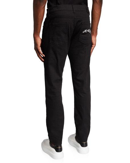 Alexander McQueen Men's Basic Dark-Wash Skinny Jeans