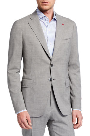 Isaia Men's Solid Wool Two-Piece Suit