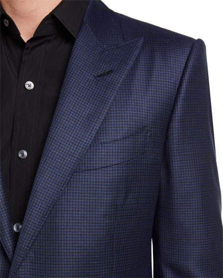 TOM FORD Men's O'Connor Micro-Tattersall Sport Jacket