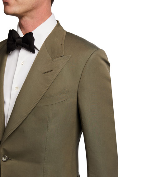 TOM FORD Men's Peak-Lapel Poplin Shelton Dinner Jacket