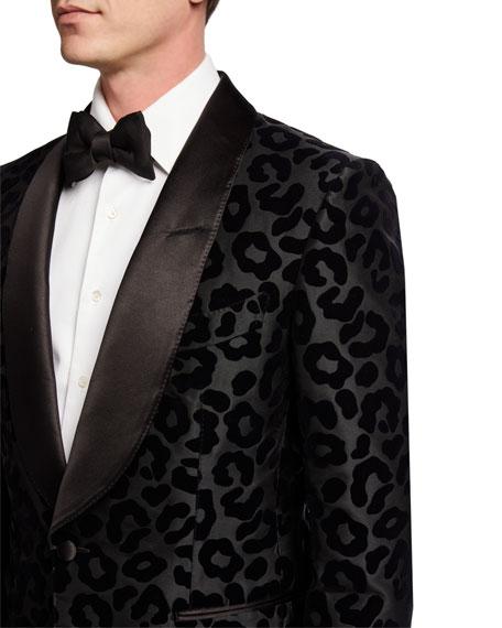 TOM FORD Men's Peak-Lapel Leopard-Flock Shelton Dinner Jacket