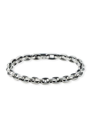 David Yurman Men's Streamline Sterling Silver Link Bracelet, Size M-L