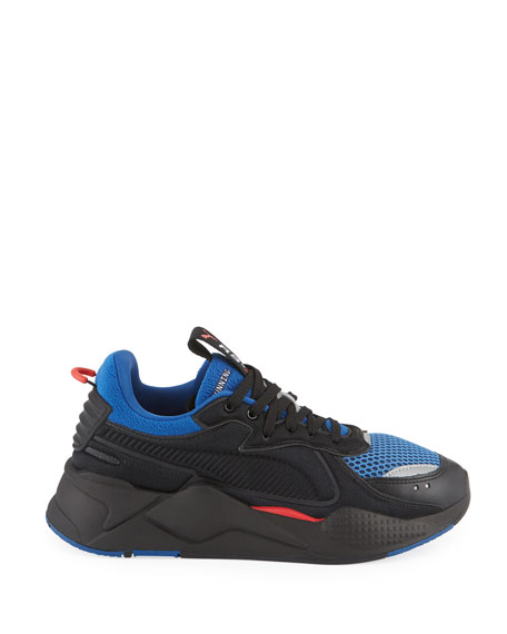 Puma Men's RS-X Softcase Mesh & Leather Running Sneakers