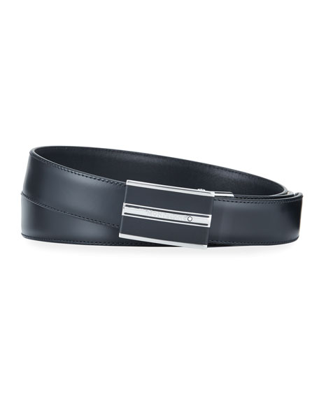 Montblanc Men's Smooth Leather Cut-To-Size Business Belt