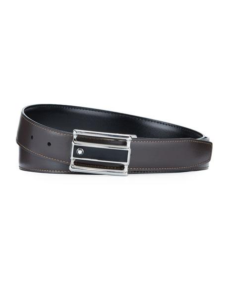 Montblanc Men's Reversible Cut-To-Size Business Belt