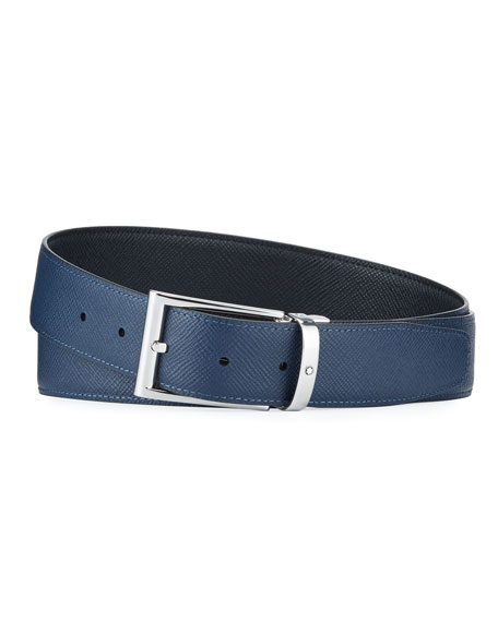 Montblanc Men's Reversible Cut-To-Size Business Belt