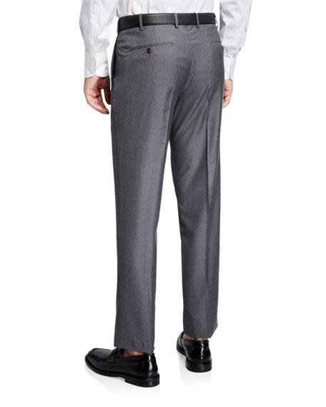 Zanella Parker Platinum Flat-Front Super 150's Trousers