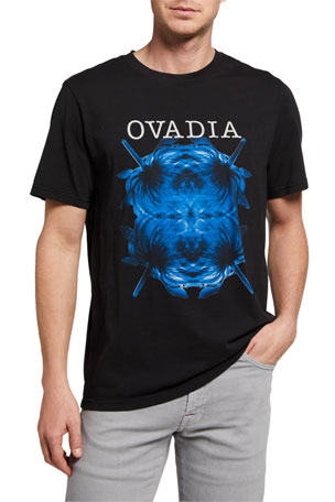Ovadia Men's X-Ray Flowers Graphic T-Shirt