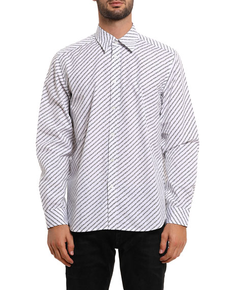 Diesel Men's Penn Copy Graphic Sport Shirt