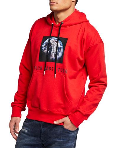 Men's Alby Graphic Pullover Hoodie Sweatshirt