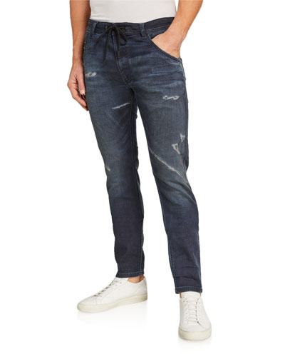 Men's Krooley Distressed Slim-Straight JoggJeans