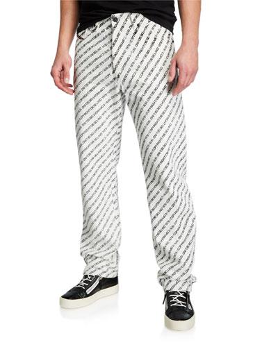 Men's Macs Allover-Logo Straight-Leg Jeans