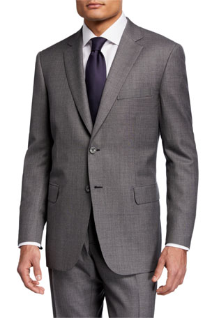 Brioni Men's Sharkskin Two-Piece Wool Suit