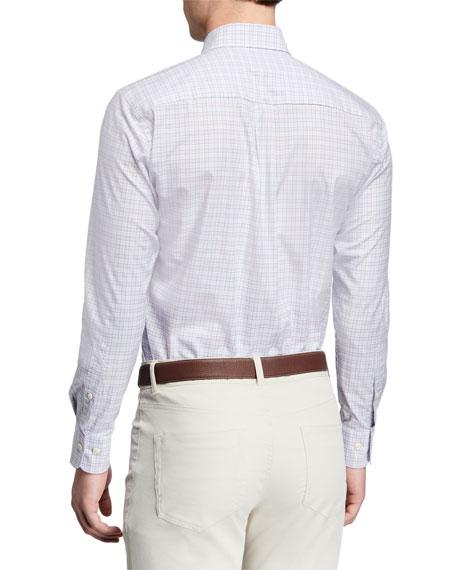 Peter Millar Men's Clarence Check Stretch-Cotton Sport Shirt