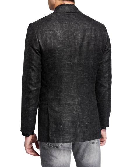 Kiton Men's Heathered Cashmere-Blend Blazer