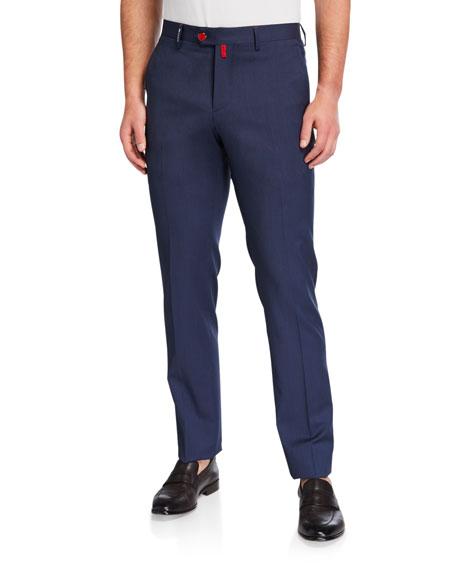 Kiton Men's Heathered Straight-Leg Pants