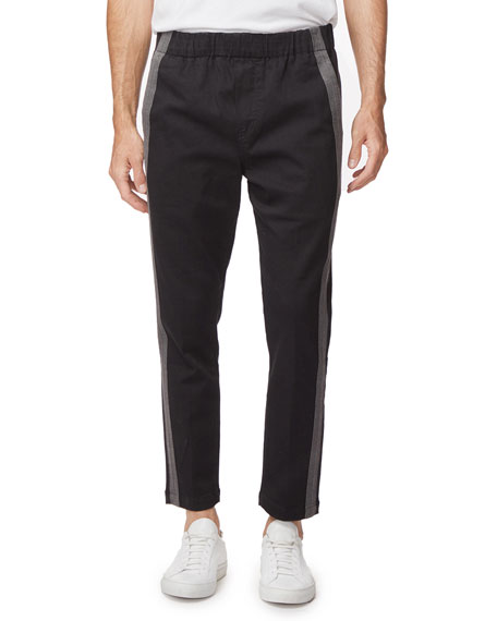 J Brand Men's Junctim Side-Stripe Jogger Pants