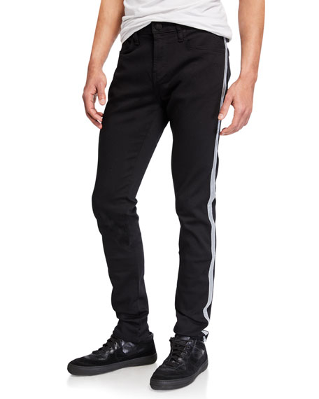 J Brand Men's Mick Side-Stripe Skinny Pants