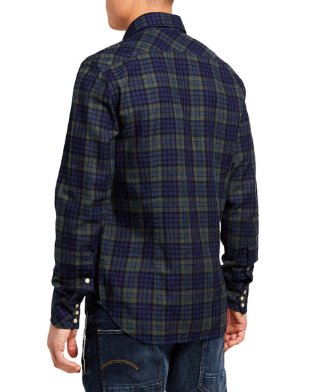 G-Star Men's Slim-Fit Check Sport Shirt