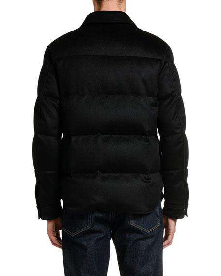 TOM FORD Men's Cashmere Down Puffer Jacket