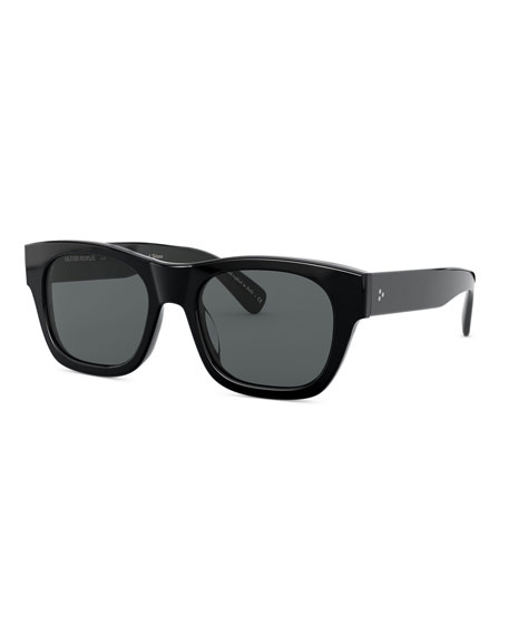 Image 1 of 2: Oliver Peoples Men's Keenan Square Polarized Sunglasses