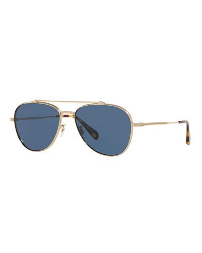 Men's Rikson Titanium Aviator Sunglasses