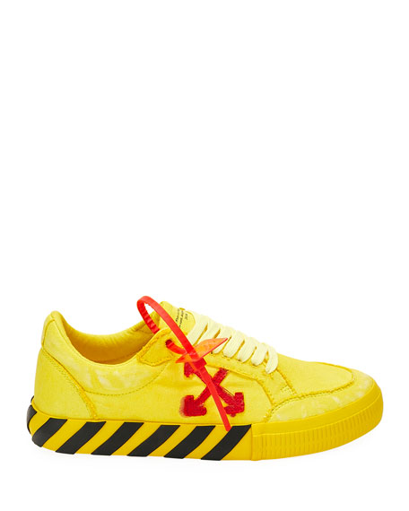 Off-White Men's Low-Top Vulcanized Canvas Sneakers